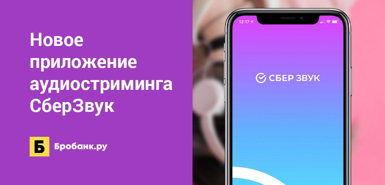 Новое приложение аудиостриминга СберЗвук