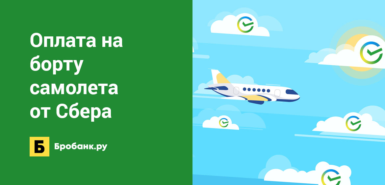 Оплата на борту самолета от Сбера