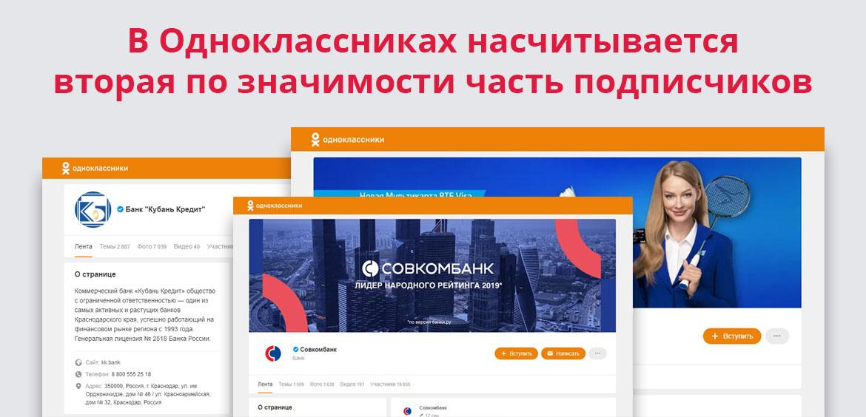 В Одноклассниках насчитывается вторая по значимости часть подписчиков