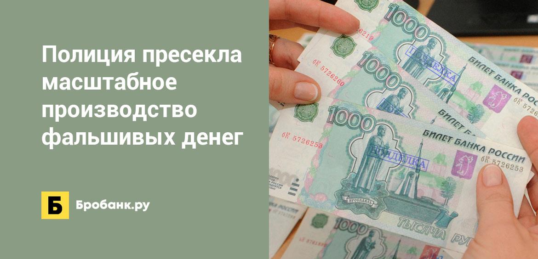 Полиция пресекла масштабное производство фальшивых денег