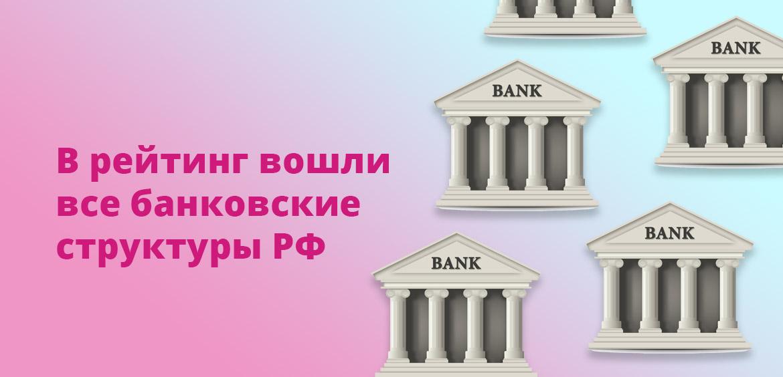 В рейтинг вошли все банковские структуры РФ