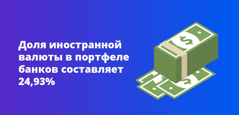 Доля иностранной валюты в портфеле составляет 24,93%