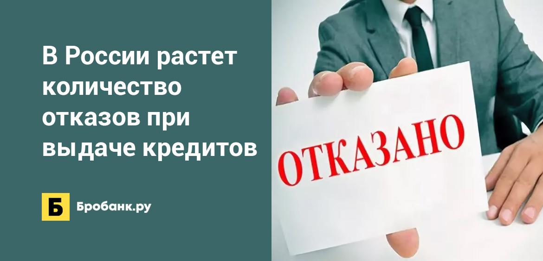 В России растет количество отказов при выдаче кредитов