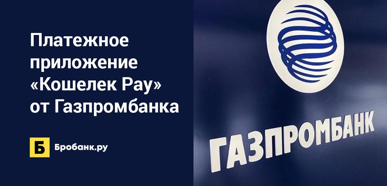 Платежное приложение Кошелек Pay от Газпромбанка