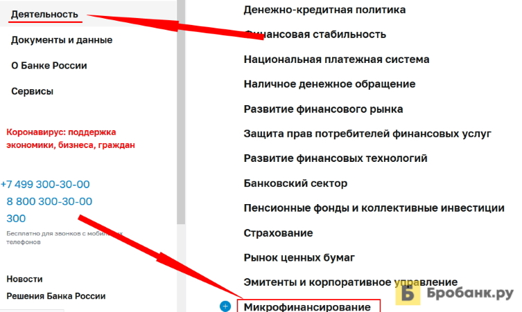 Проверить МФО в реестре ЦБ РФ в 2021 году - шаг 2