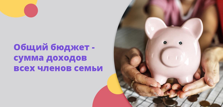 Общий бюджет - сумма доходов всех членов семьи