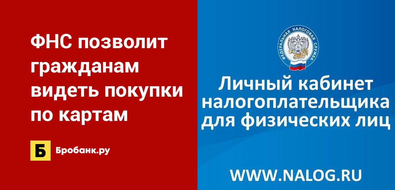 ФНС позволит гражданам видеть покупки по картам