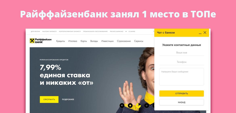 Райффайзенбанк занял 1 место в ТОПе