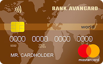 Кредитная карта Авангард Mastercard World Cash Back