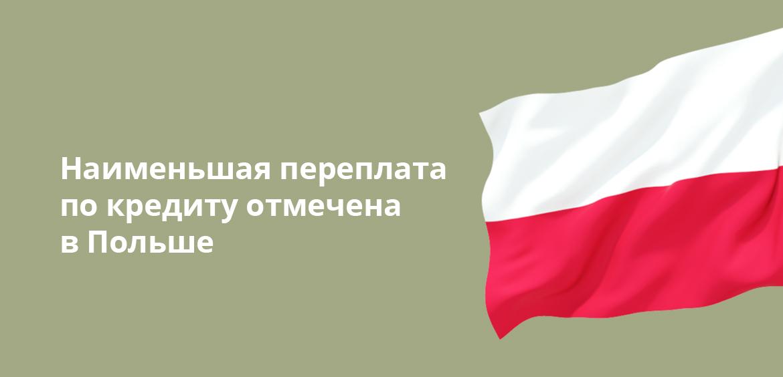 Наименьшая переплата по кредиту отмечена в Польше