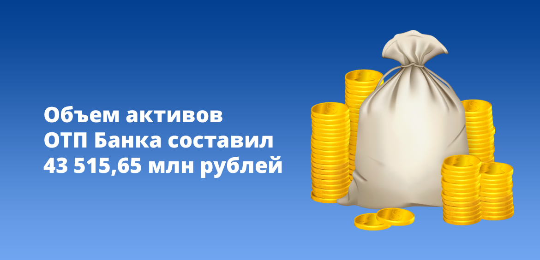 Объем активов ОТП Банка составил 43 515,65 млн рублей