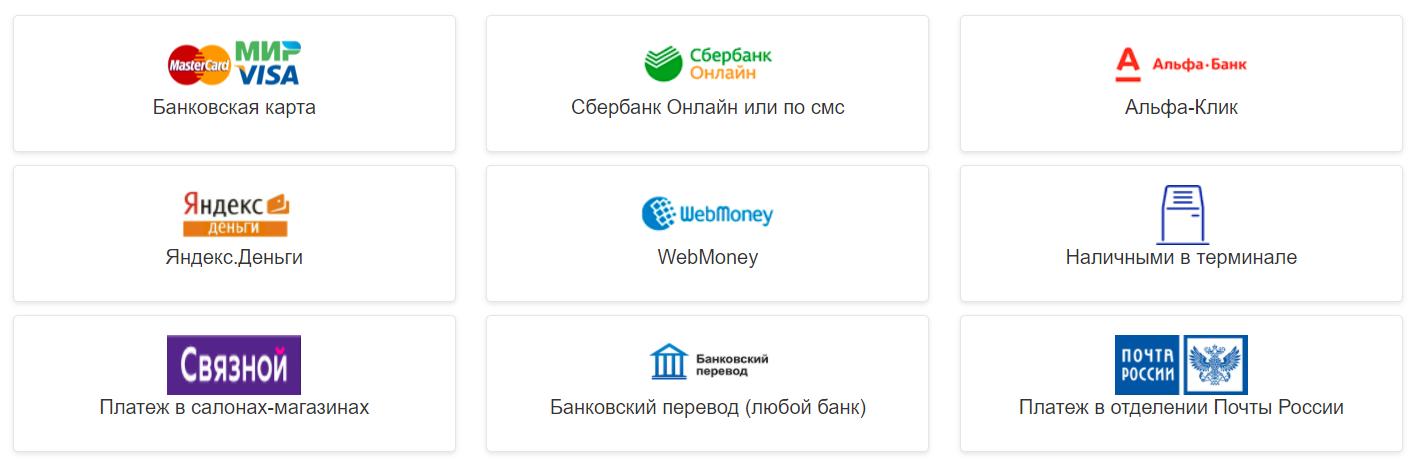 способы оплаты займа в веб займ