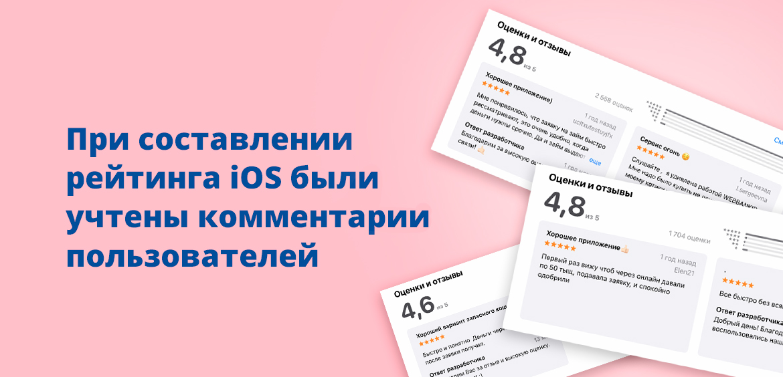 При составлении рейтинга iOS были учтены комментарии пользователей